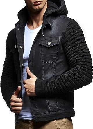 LEIF NELSON Men s Cardigan Jean Jacket Jacket Sweat Jacket LN5240N-  ... 772a669568