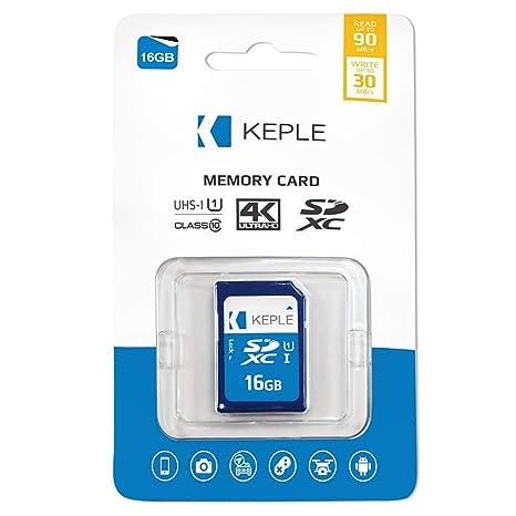 Keple Tarjeta de Memoria SD de 16GB Tarjeta SD de Velocidad ...