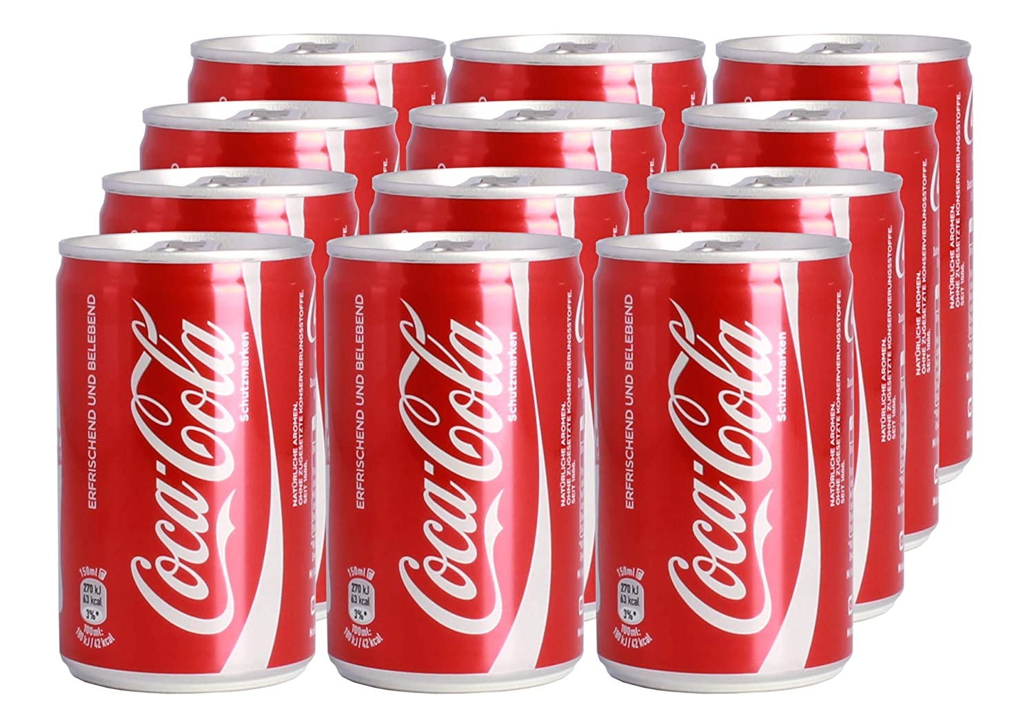 Coca-Cola Mini Cans 12 x 150 ml: Amazon.es: Hogar