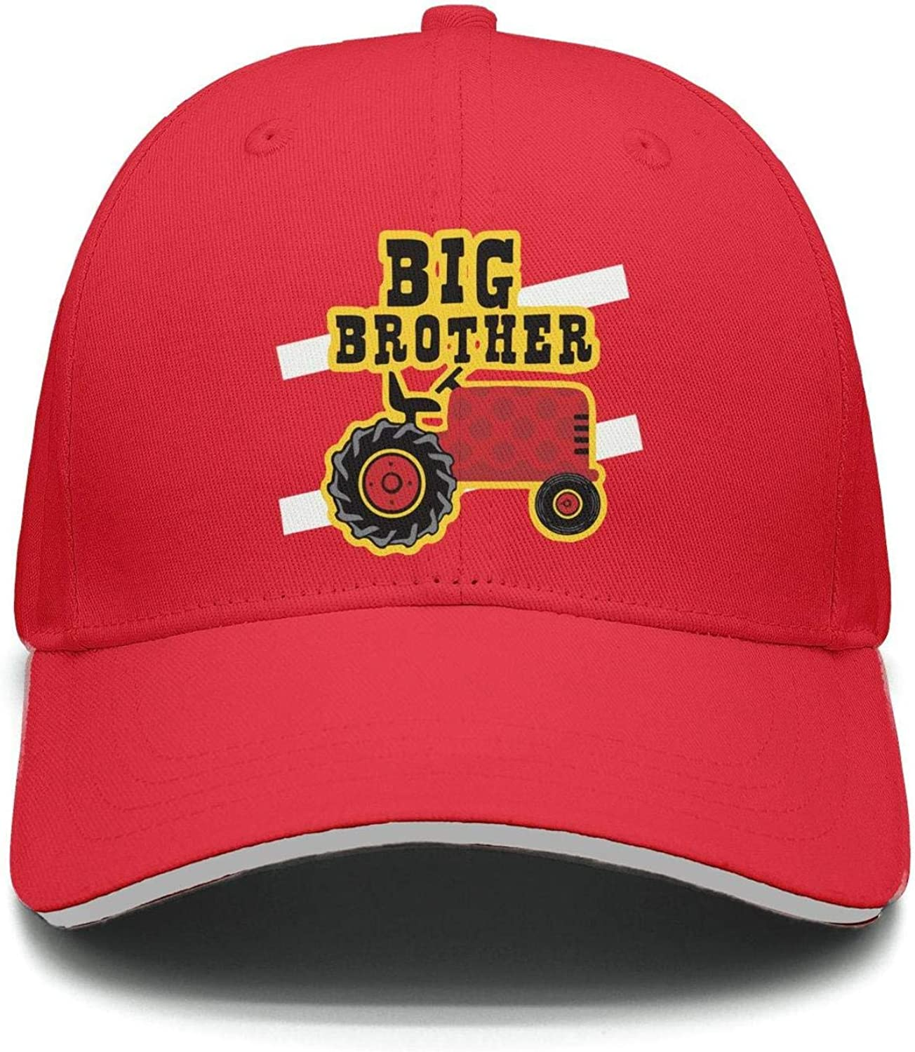 Learning Candy Big Brother Tractor Baseball Hat Fitted Unisex Solid Color Summer Sun Hat Sports Hat for Mens Womens One Size