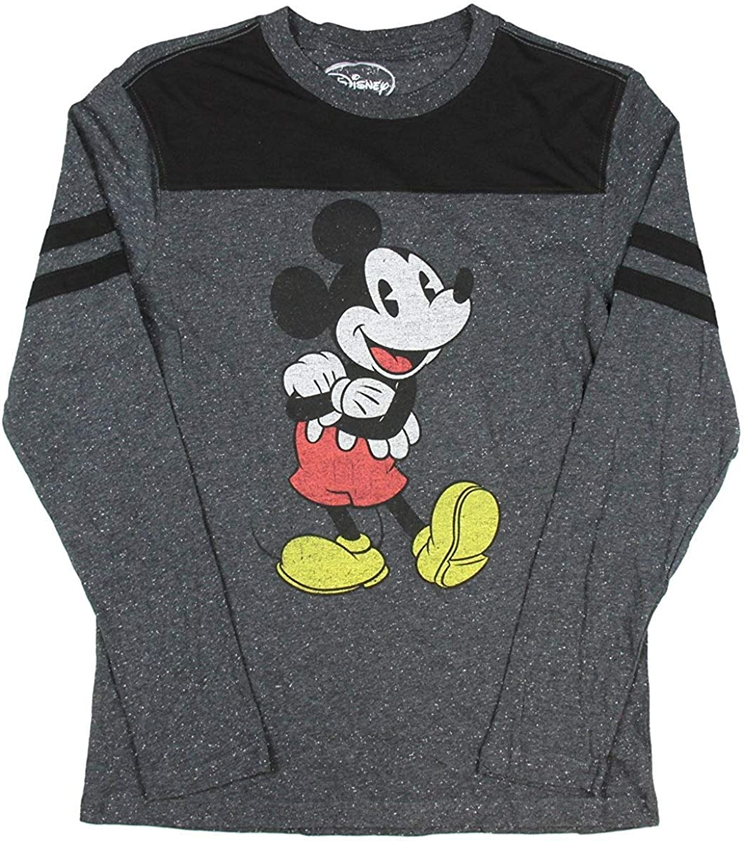 MICKEY MINNIE MOUSE Disney Long Sleeve Shirt Top Vintage Loose PLUS SIZE Tee Top