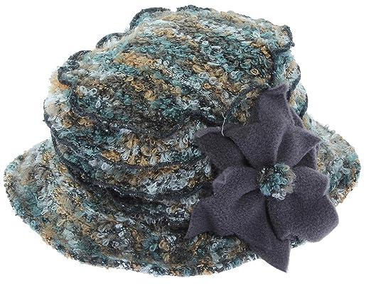 28d65a193bf COMVIP Women s Polar Fleece Flower Winter Warm Party Bucket Hat Caps ...