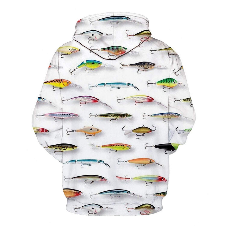 EspTmall Printed Hoodie 3D Hoodies Men Fish Sweatshirts Tracksuit Streetwear Jacket Animal Pullover Funny Coat Picture Color XXL