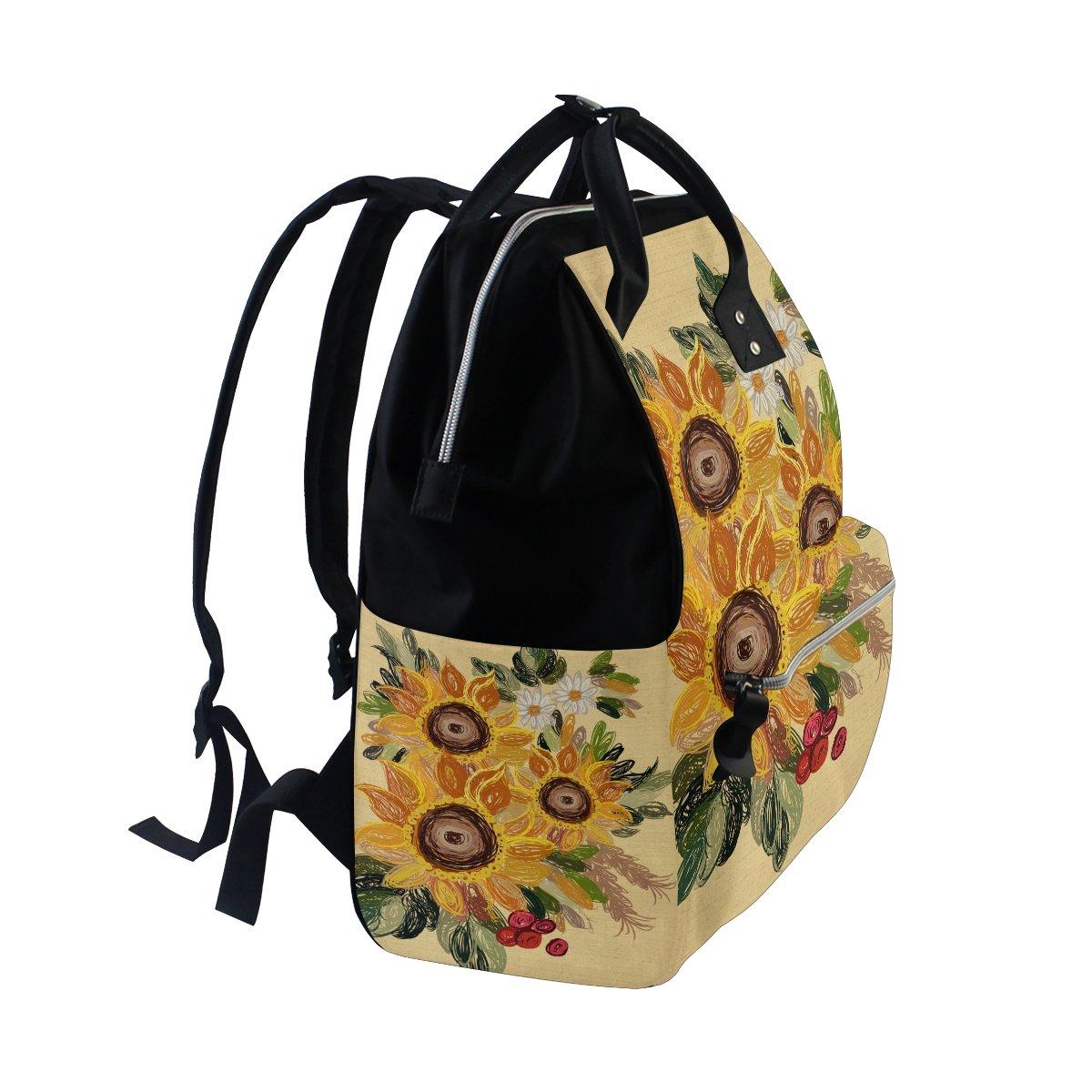 a77a083085e1 Amazon.com: ZOEO Backpack Purse Vintage Sunflower College Designer ...