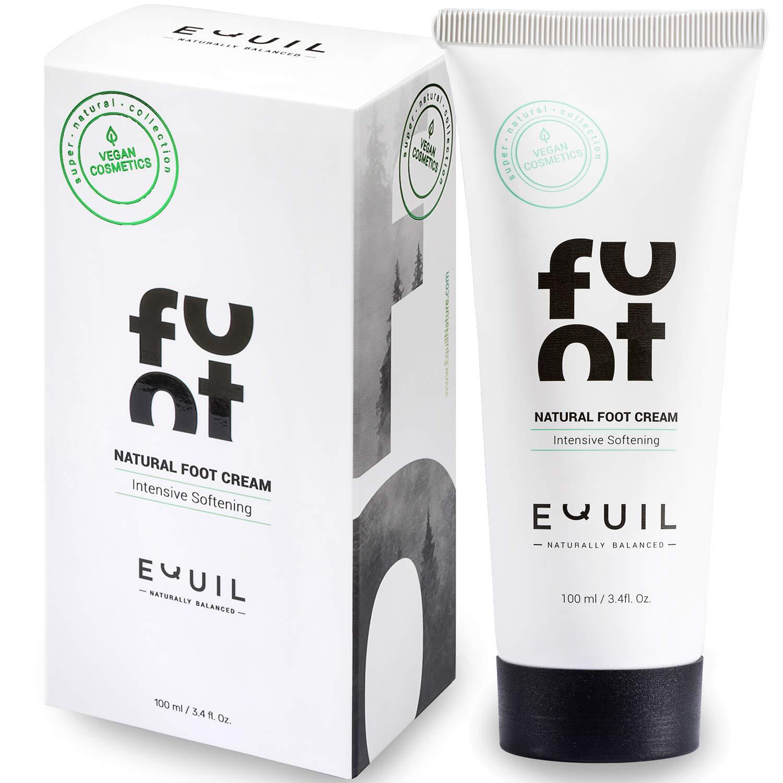 Natural Vitalizing Foot Cream by Equil Cosmetics - Softens & Revives Dry & Tired Feet - Intense Moisture Treatment - Jojoba Oil - Avocado Oil - Tea Tree & Lemon, 3.4 fl. Oz