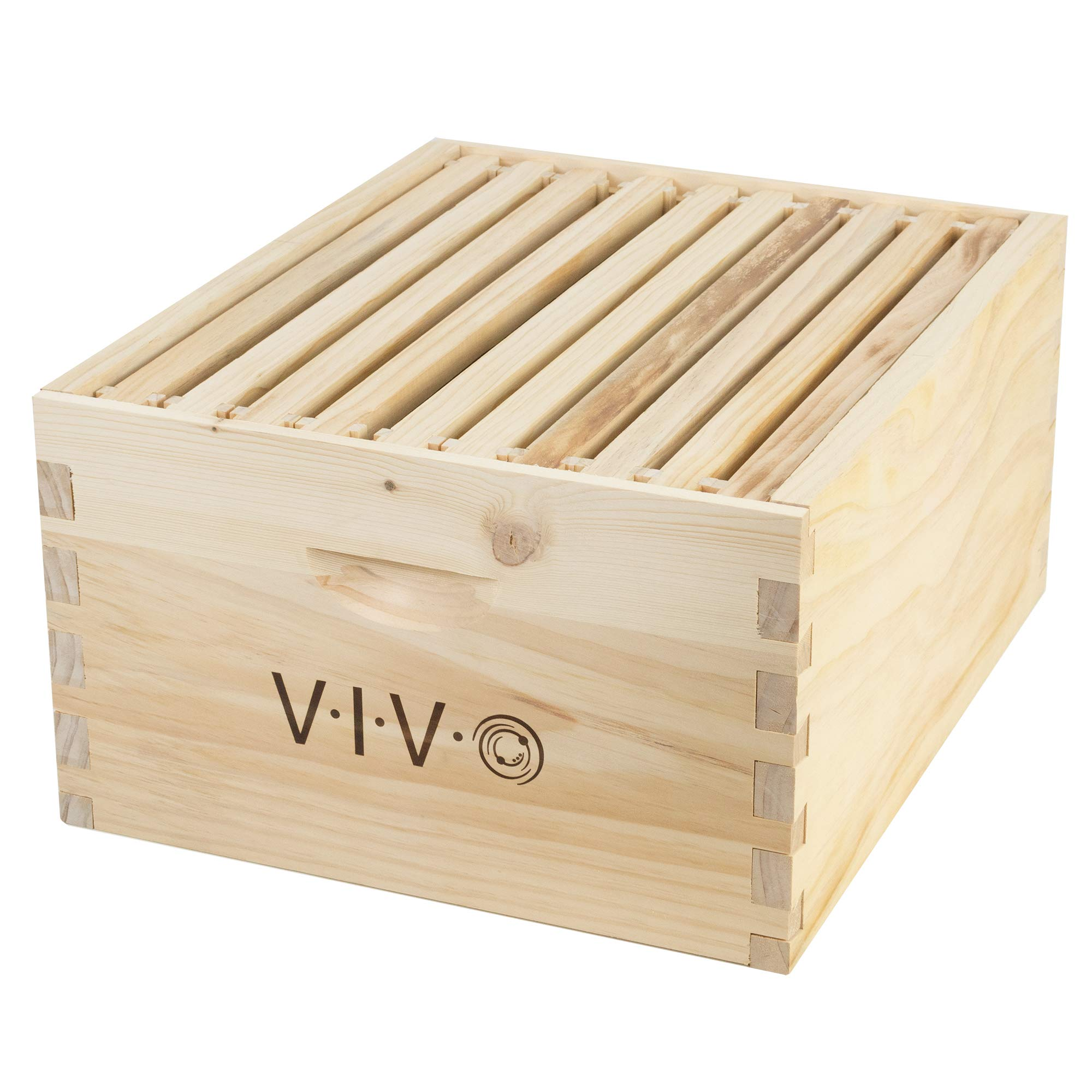 VIVO Beekeeping Add-on Deep Super Bee Hive Box Kit with 10 Frames for Langstroth Beehive (BEE-HV04) by VIVO