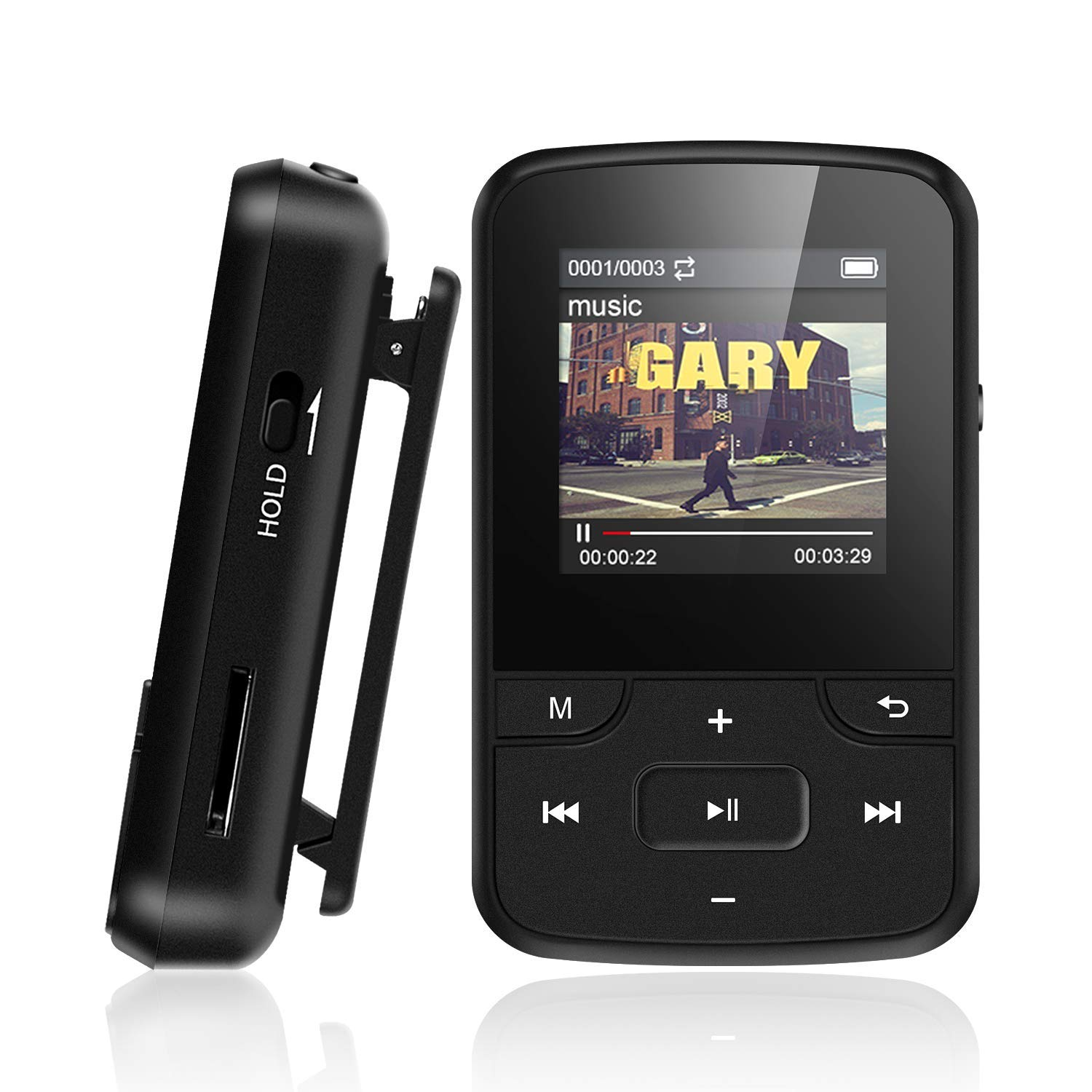 Bluetooth MP3 Player with Clip d815ef278b