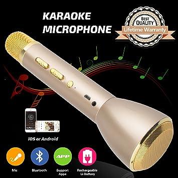 Micrófono para Niños, Micrófono Inalámbrico Bluetooth Karaoke con Altavoz Niños Máquina de Karaoke Portátil para