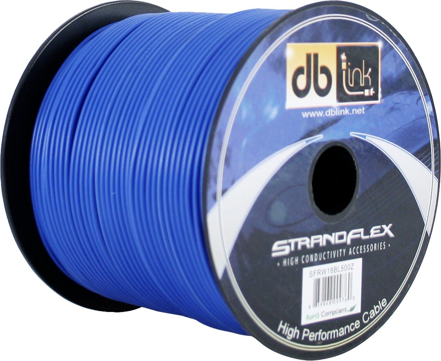 Blue DB Research L.L.P. db Link SFRW18BL500Z StrandFlex Power Wire Spools Round Jacket
