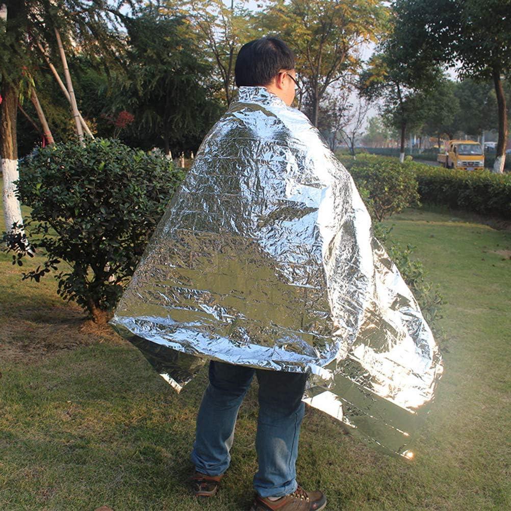 Argent LIOOBO 4pcs Couverture durgence Thermique Couverture Espace Thermique kit de Survie Couverture Camping Mylar Feuille pour ext/érieur randonn/ée Survie Bug Out Sac Marathons Premiers Secours