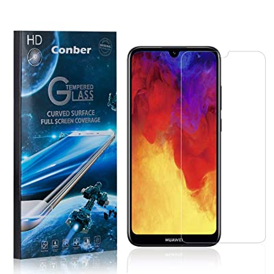 Conber (4 Pack) Screen Protector for Huawei Honor 8A, [Scratch-Resistant][Anti-Shatter][Case Friendly] Premium Tempered Glass Screen Protector for Huawei Honor 8A: Baby