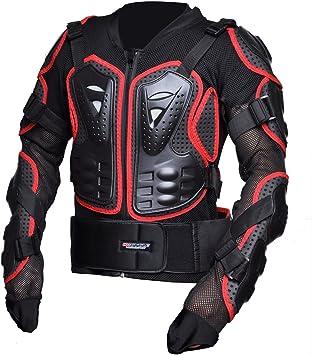 CHCYCLE Motorcycle Full Body Armor Motocross ATV Motorbike Jacket Protector XL, Red