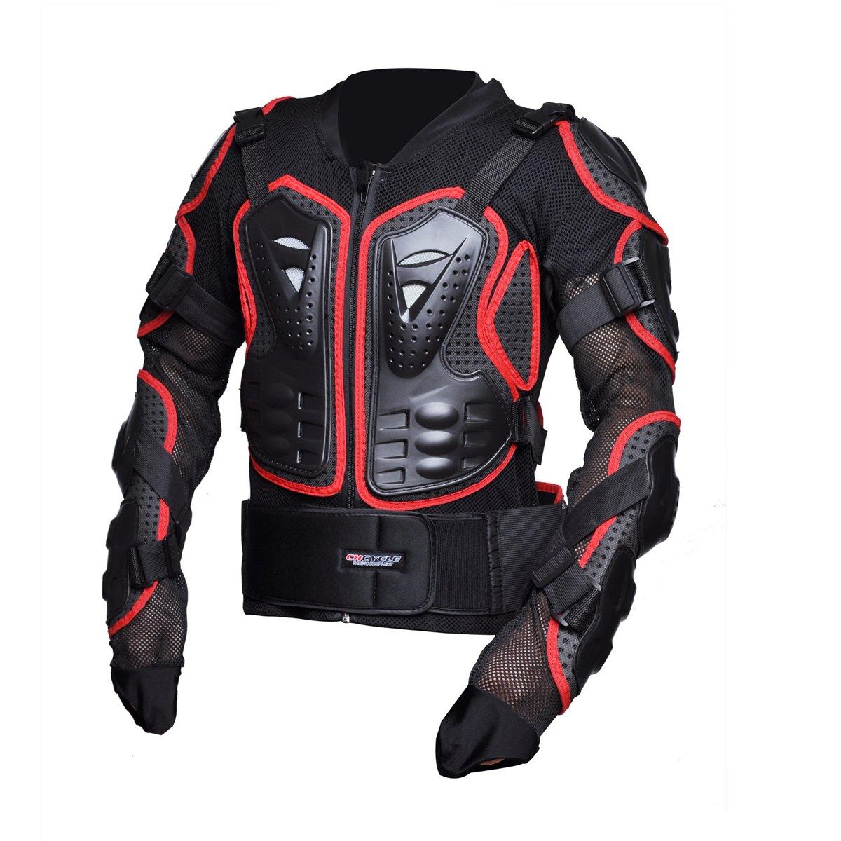 CHCYCLE Motorcycle Full Body Armor Motocross ATV Motorbike Jacket Protector (Medium, Red) by CHCYCLE