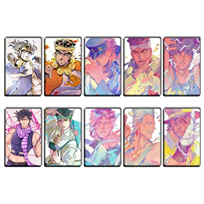 WerNerk 10PCS/Set Anime JoJo's Bizarre Adventure Part 5: Golden Wind Crystal Cards Stickers Photocard LOMO Cards Cosplay Manga Stickers Gift for Fans(H03): Arts, Crafts & Sewing