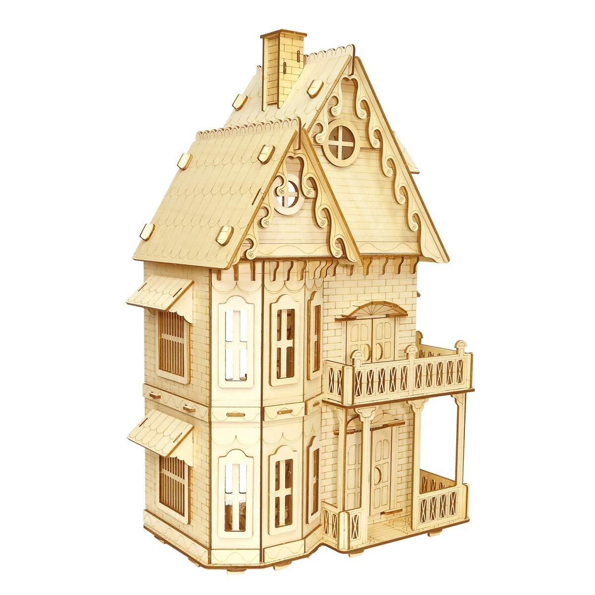 超話題新作 AHWZ 3Dパズル 3Dパズル DIY B07M8RRRH8 木製ジグソーパズル AHWZ ゴシック ヴィラ B07M8RRRH8, 家具インテリアのルームズ大正堂:e1b3bd52 --- a0267596.xsph.ru
