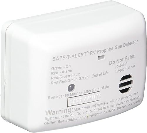 MTI INDUSTRIES 20441PWT 12V Propane Gas Detector, White