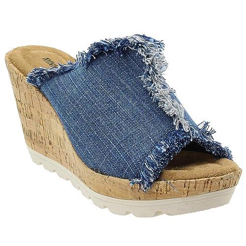 3cb85f4987813 Minnetonka Women's, York High Heel Wedge Sandals