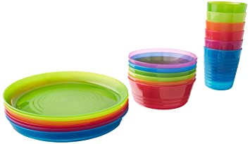 IKEA - KALAS Children Color Bowl Tumbler and Plate Sets X6 Each (Set of  sc 1 st  Amazon.com & Amazon.com: IKEA - KALAS Children Color Bowl Tumbler and Plate Sets ...