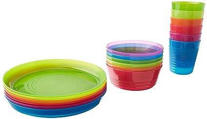 IKEA - KALAS Children Color Bowl, Tumbler and Plate Sets X6 Each (Set of
