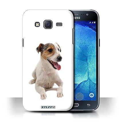 Carcasa/Funda STUFF4 dura para el Samsung Galaxy J5/J500 / serie: Razas de perros - Jack russell terrier