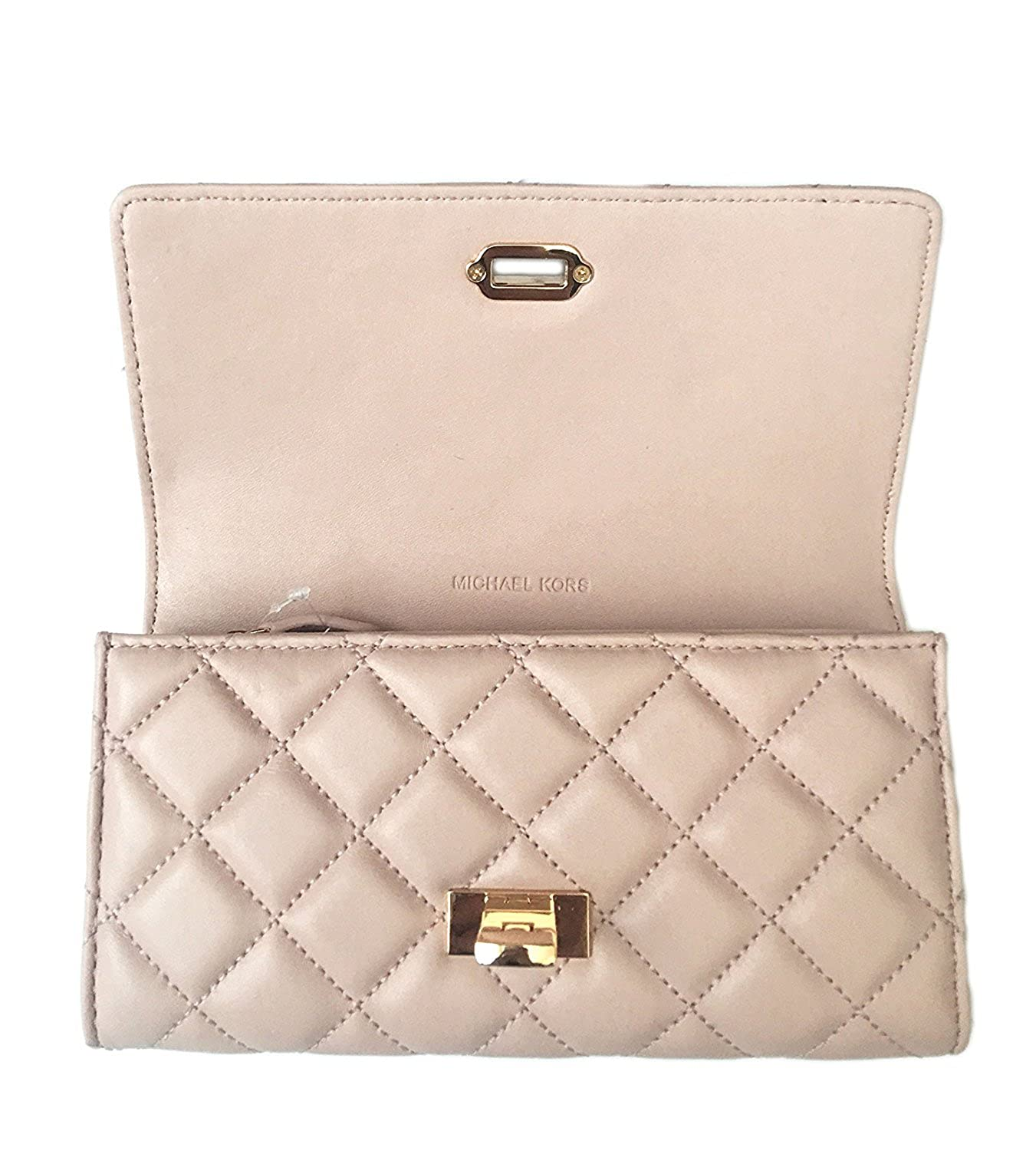 e0f6c50e39efbe Michael Kors Astrid Quilt Leather Carryall Wallet (Ballet Pink/Gold):  Amazon.ca: Clothing & Accessories
