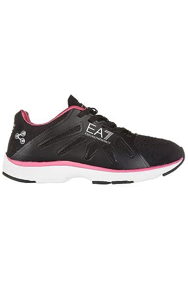 Emporio Armani - Zapatillas de Deporte Hombre, negro (negro), 42: Amazon.es: Zapatos y complementos