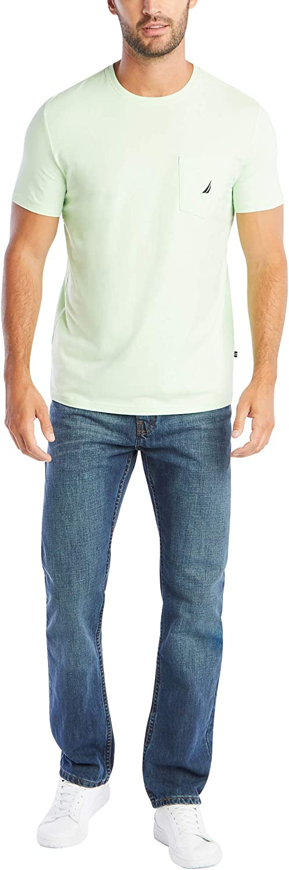 Nautica Men's Solid Crew Neck Short Sleeve Pocket T-Shirt |