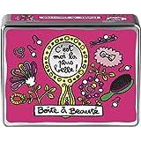 Derriere La porte Plus Belle - Caja organizadora con texto en francés, color rosa