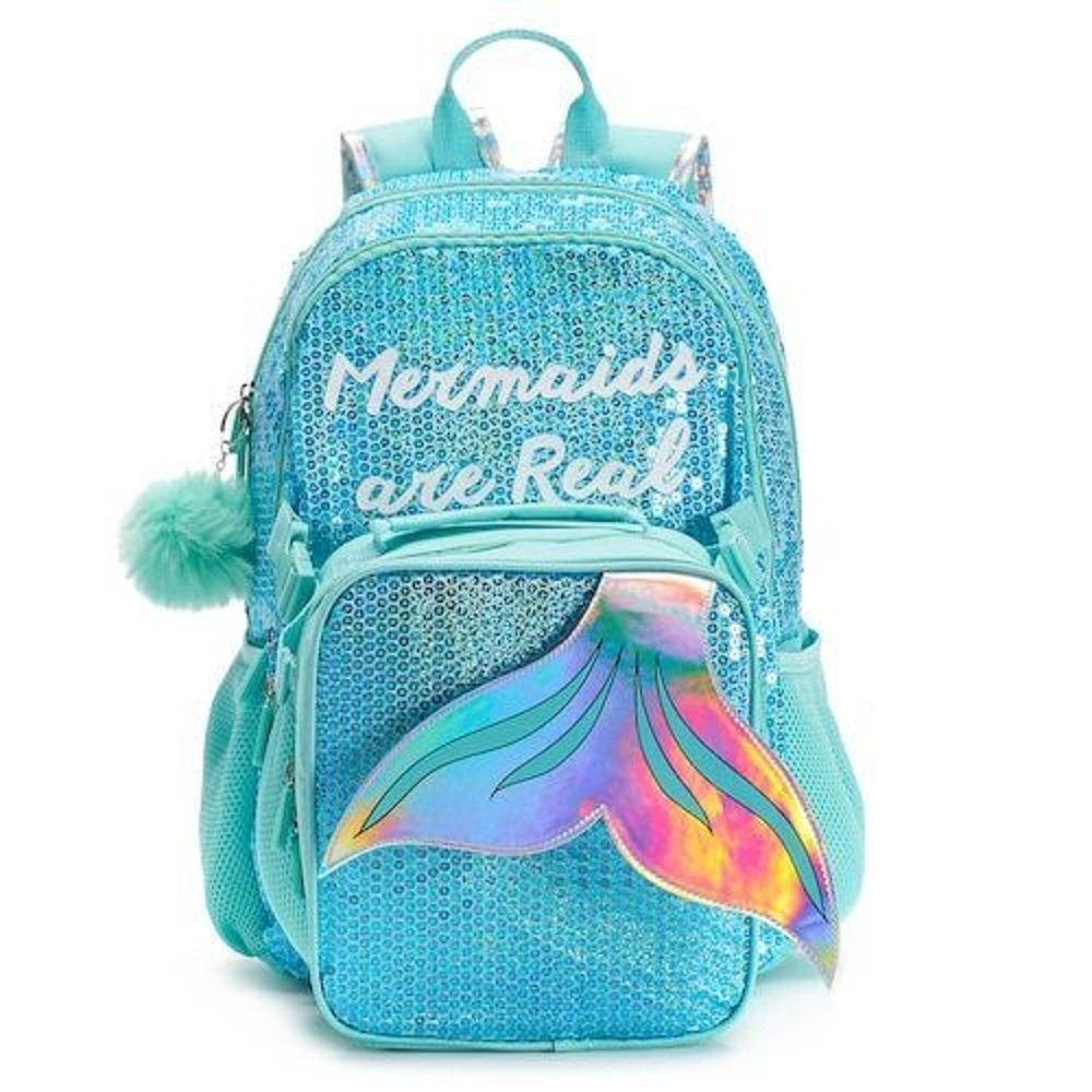 Mermaids are Real Sequin Backpack and Lunch Bag Set