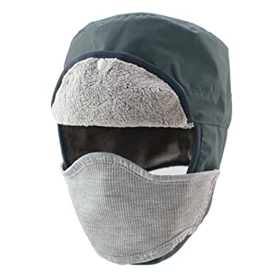 47e58163 Magracy Winter Russian Trapper Hat for Men Warm Waterproof Hunting Hat with  Ear Flaps Face Mask