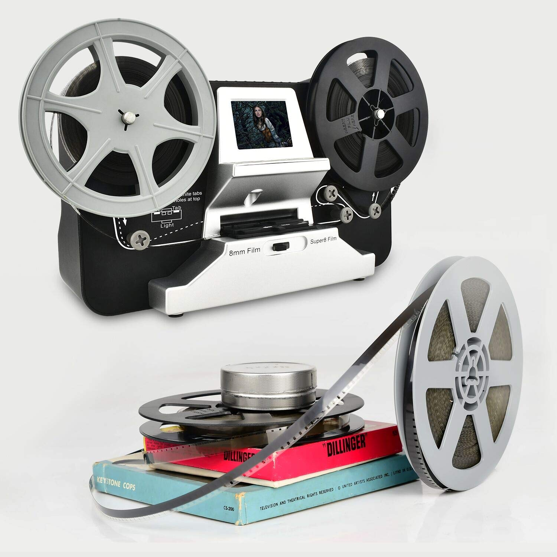 8mm & Super 8 Reels to Digital MovieMaker Film Sanner,Pro Film Digitizer Machine with 2.4'' LCD, Black (Film 2 Digital Movie Maker&8mm Film Scanner) with 32 GB SD Card by eyesen (Image #2)