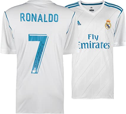 7b565a44e Cristiano Ronaldo Real Madrid Autographed 2017-2018 Jersey - Fanatics  Authentic Certified - Autographed Soccer Jerseys at Amazon s Sports  Collectibles Store