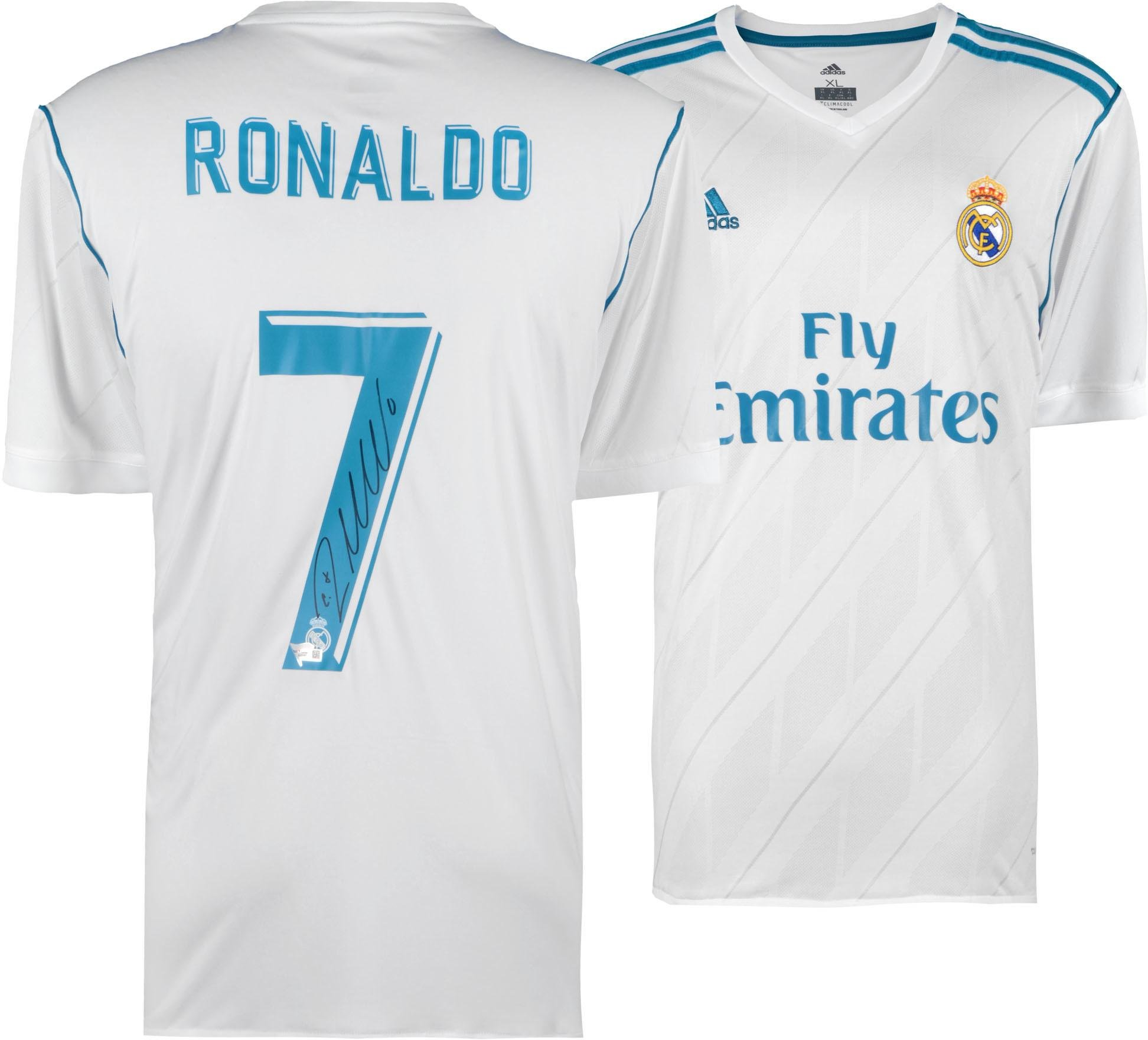 Cristiano Ronaldo Real Madrid Autographed 2017 2018 Jersey Fanatics Authentic Certified Autographed Soccer Jerseys