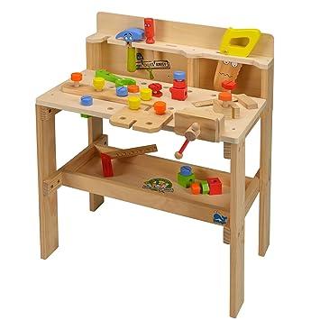TikTakToo XXL Werkzeugbank aus Holz Spielzeug Kinder Zubehör ...