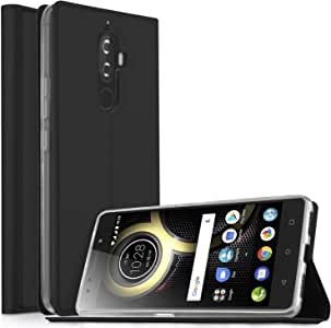 KuGi Ultra-Thin BW Style PU Cover Black TPU Back Stand Case for Huawei P30 pro Smartphone Huawei P30 pro case
