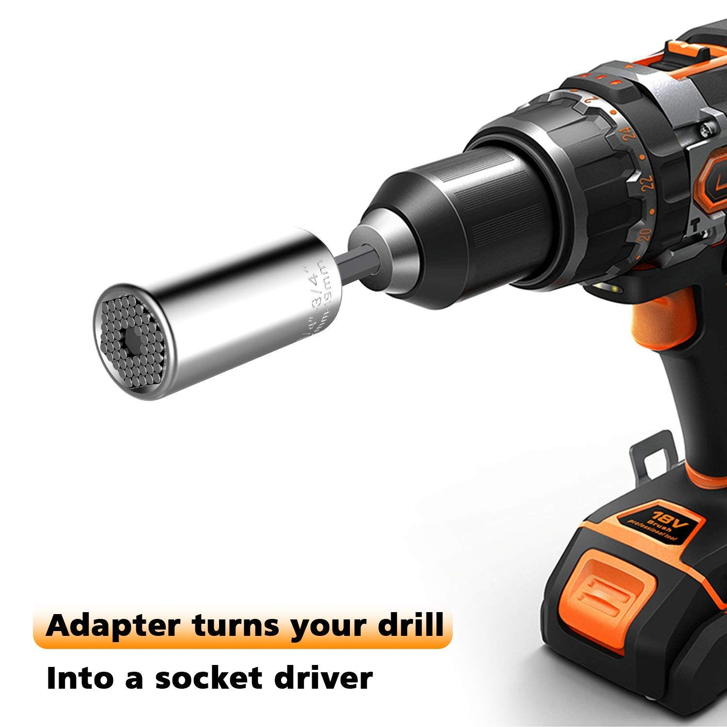 ,Multi-Function Grip,Ratchet Tool Set,Power Drill Adapter,Tools Gifts for Dad,Father,Men,Him,Husband,Boyfriend,DIY Handyman,Women,Birthday Gift 7-19mm Gifts for Men,Universal Socket Wrench