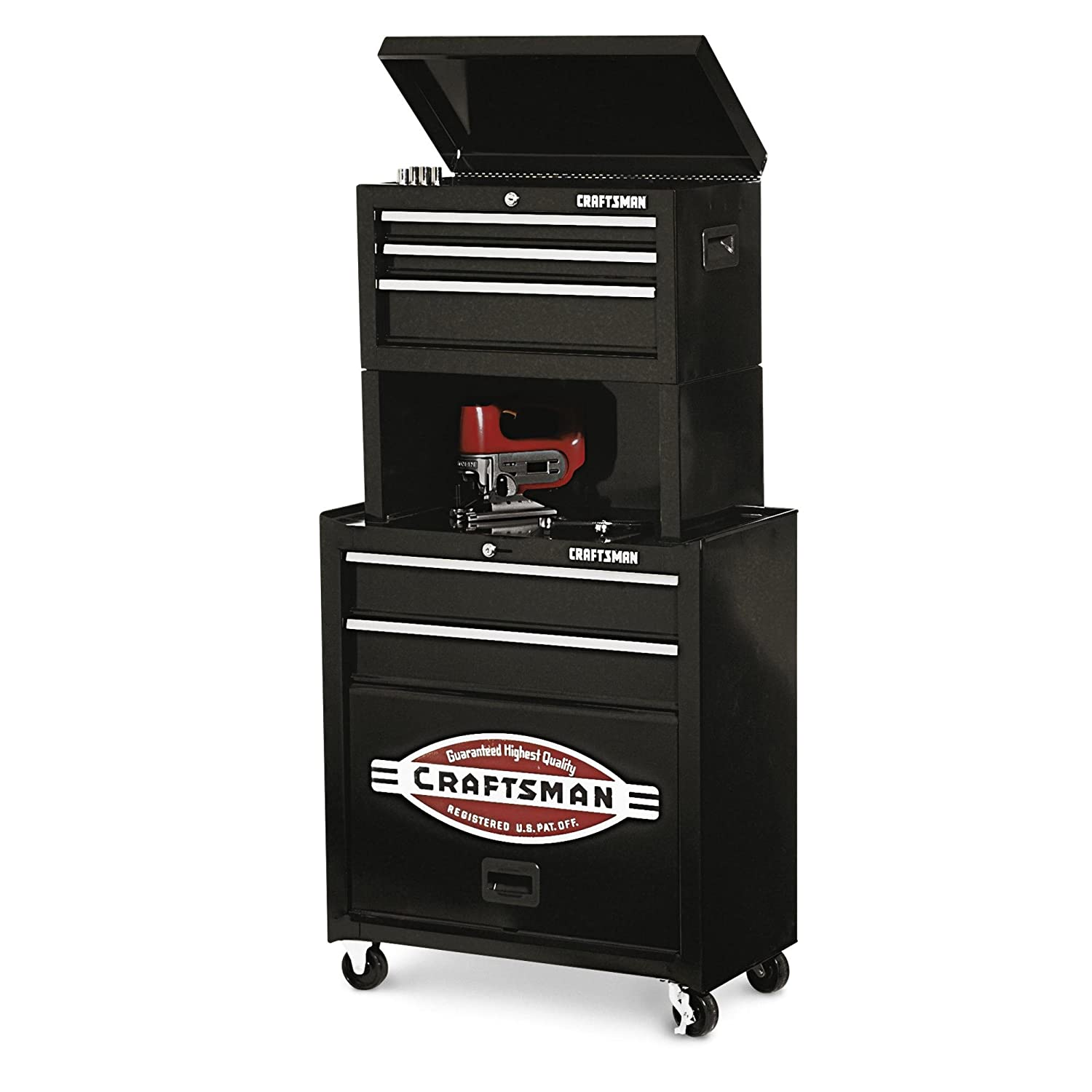 Amazon.com: Craftsman 5 Drawer Homeowner Tool Center Chest Cabinet With  Riser: Industrial U0026 Scientific