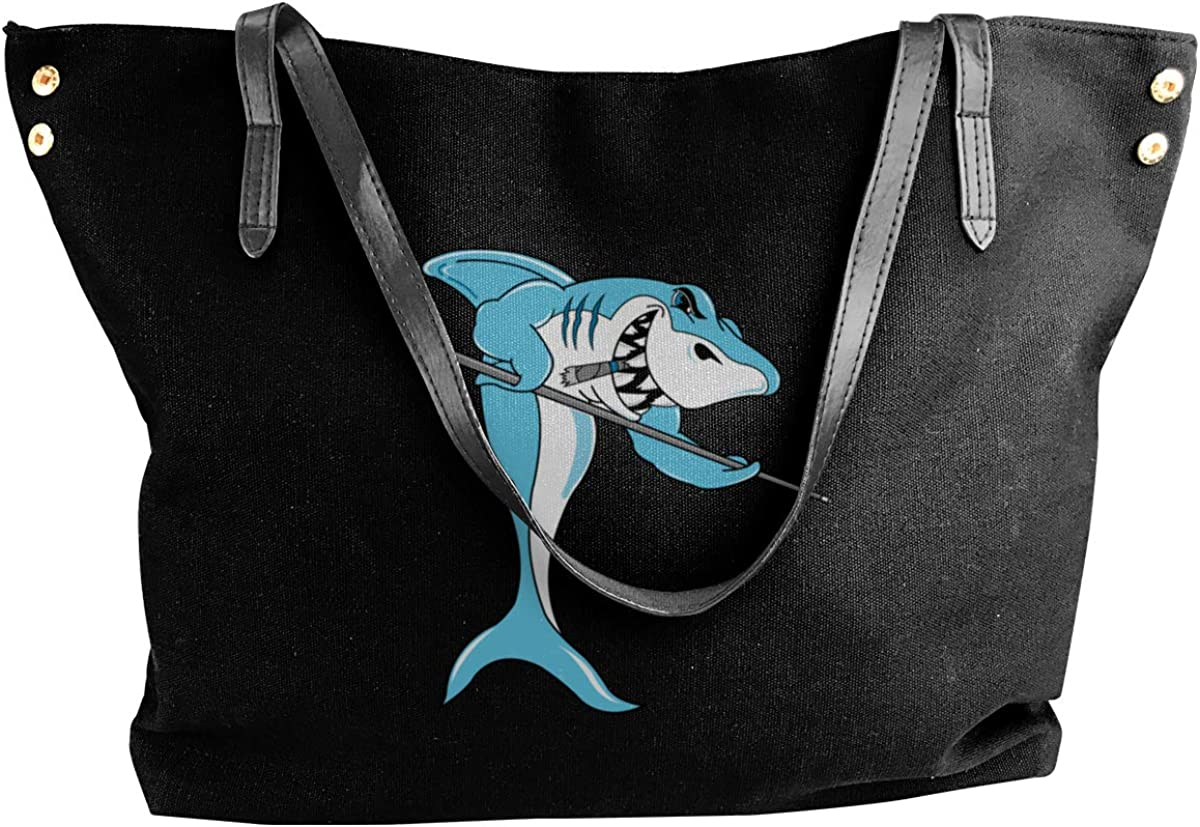 Shark Billiard Womens' Canvas Shoulder Bag Casual Handbags