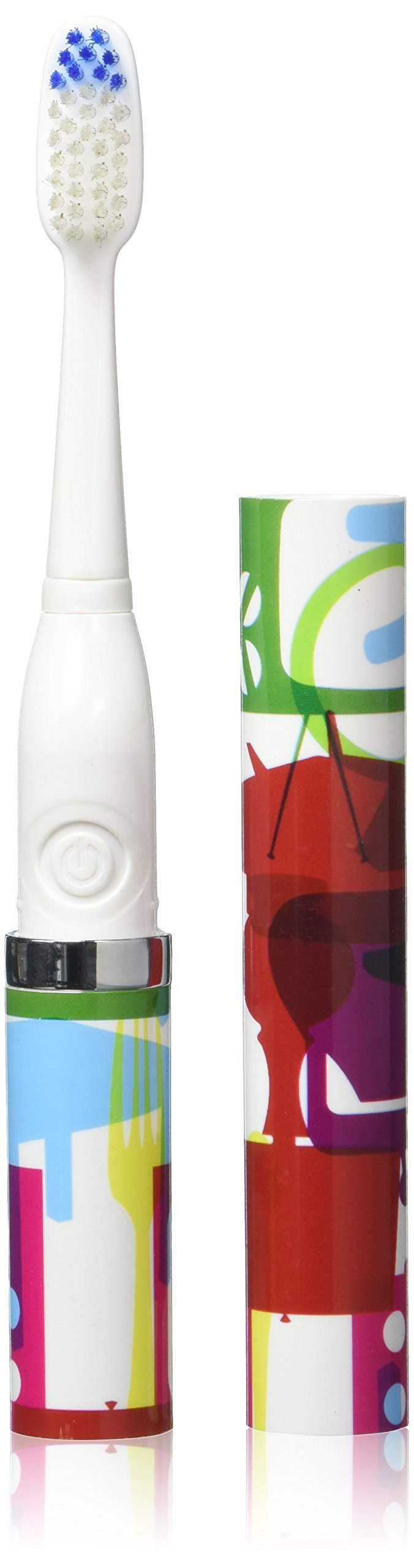 Violife Style Slim Sonic Electric Travel Toothbrush, Patterned, 2.5 Ounce
