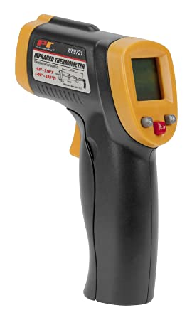 Performance Tool W89721 Non-Contact Digital Laser Infrared Thermometer, Orange and Black With 12 1 Spot Ratio