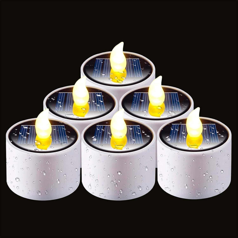 Homemory Solar Candles Outdoor Waterproof