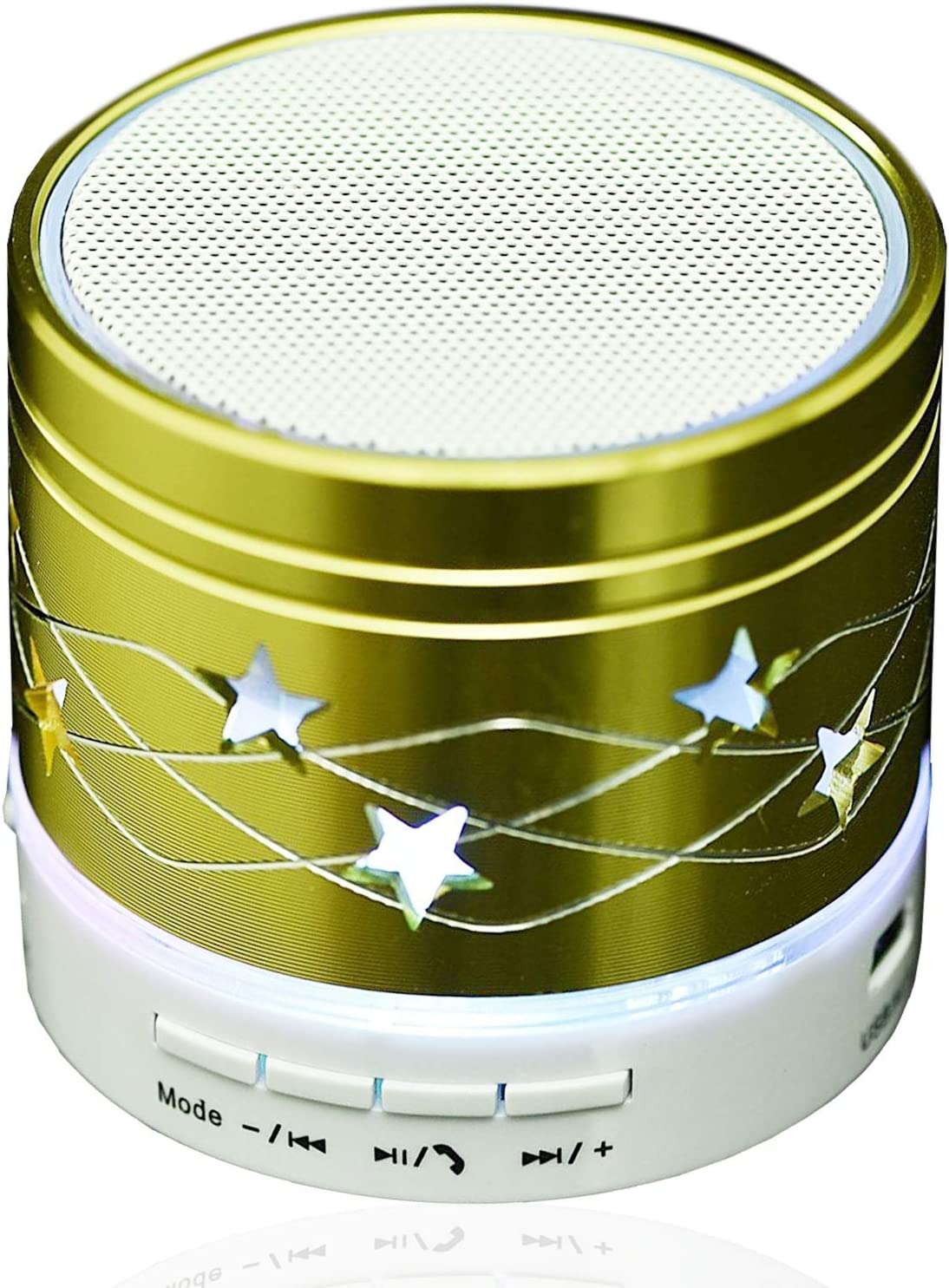 Portable Bluetooth Speaker Wireless Speaker Led Night Light Stereo Speaker Handsfree Call Music Player with Microphone TF Card Slot Compatible iOS Android Samsung S8 S9 iPhone Lg Laptops Tablets Pc