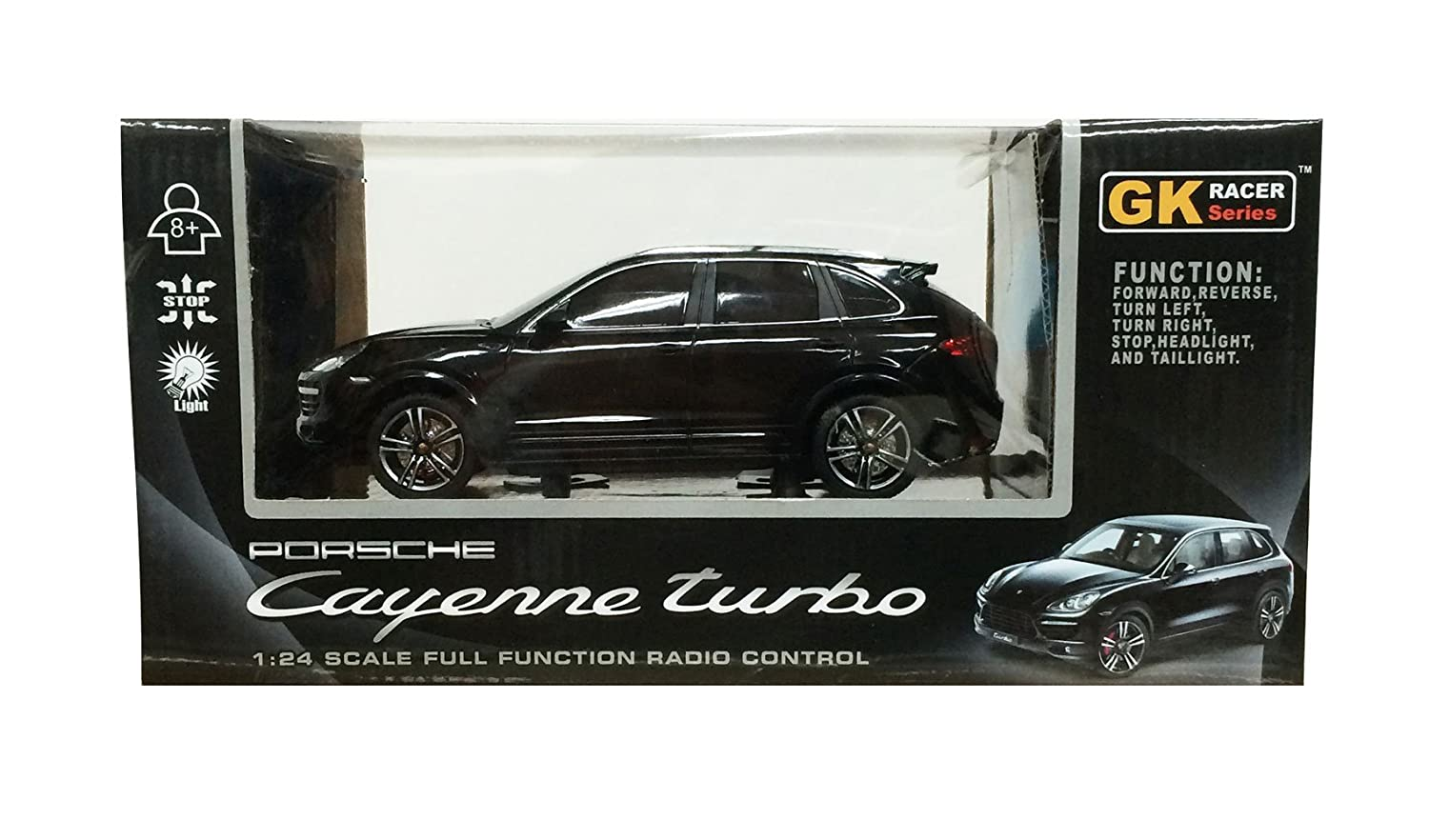 1 / 24RC automoevil Porsche Cayenne Turbo (Negro): Amazon.es: Juguetes y juegos