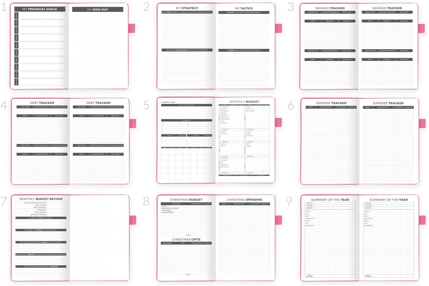 A5 Size Start Anytime Undated Expense Tracker Notebook Monthly Budgeting Journal Peach Pink Hardcover Clever Fox Budget Planner Finance Planner /& Accounts Book to Take Control of Your Money