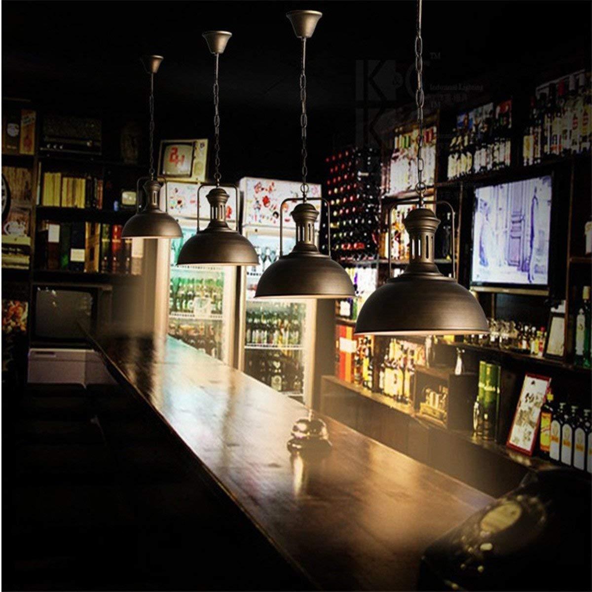 L/ámpara Industrial Retra Pantallas Luz de Techo R/ústica Pantalla Lampshade Pendant de Metal Interfaz E27 para Bar Cafeter/ía Cocina Desv/án Restaurante AOGUERBE Iluminaci/ón Colgante Vintage Herrumbre