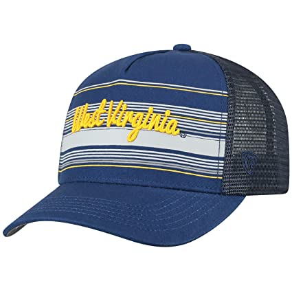 6eab6bc7f9f Top of the World West Virginia Mountaineers Official NCAA Adjustable 2Iron  Trucker Mesh Hat Cap 395210