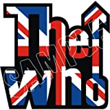 60MM SCOOTER MODS CLASSIC THE WHO LOGO HELMET STICKER DECAL, use on Motorbikes, Scooters, Helmets, Leg Shields.