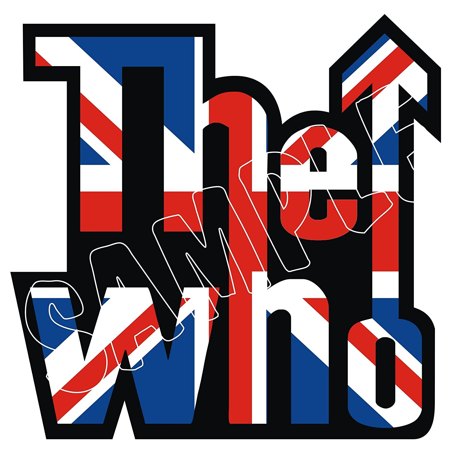 60MM SCOOTER MODS CLASSIC THE WHO LOGO HELMET STICKER DECAL, use on Motorbikes, Scooters, Helmets, Leg Shields. IPoppinshop