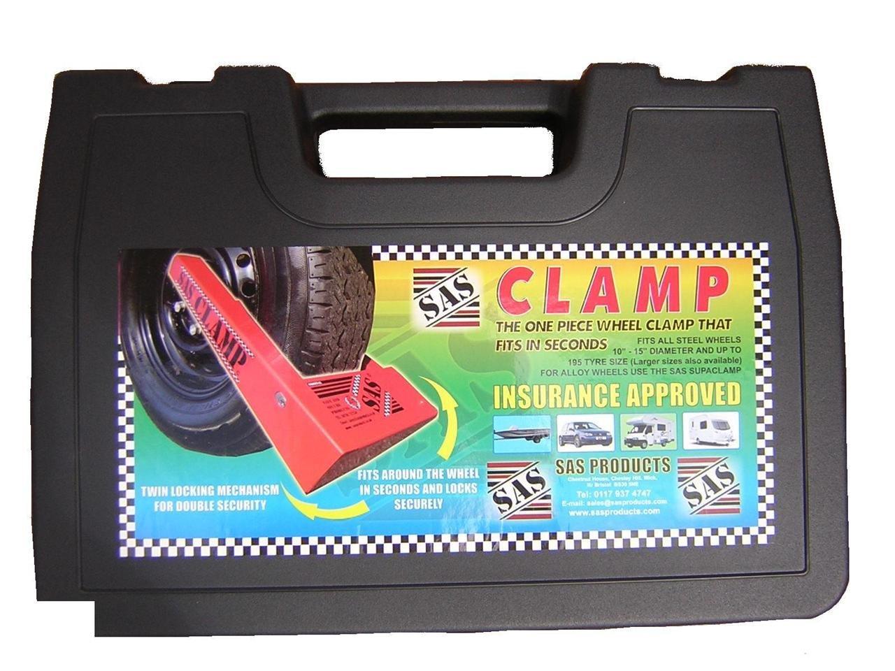 Wheels N Bits NEW CAR VAN WHEEL CLAMP 13-16 SAFETY LOCK FOR CARAVAN BOAT JET SKI TRAILER