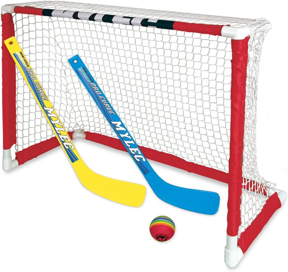 NEW Zetterberg Mylec Pro Style Mini Hockey Goal Set, White : Knee Hockey Set : Sports & Outdoors
